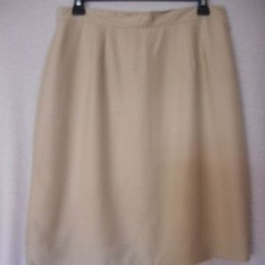 Beige Lined Skirt Cambel for Charter Club